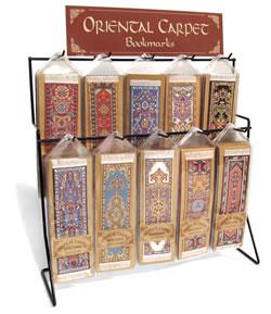 oriental carpet bookmark 10 hook display